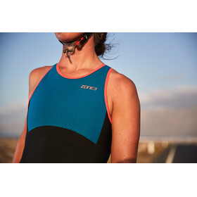 Zone3 Aeroforce Swimback Style ITU Design Dames blauw/zwart